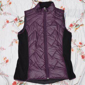 Ideology Purple Puffer Vest Size Large